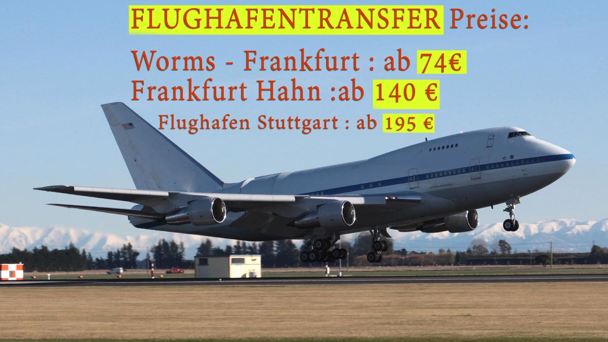 flughafentransfer Worms preise